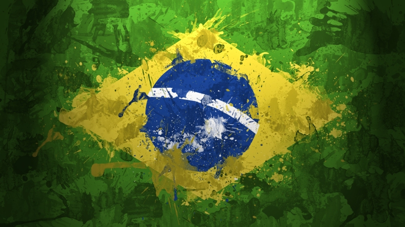 Water-color-Brazilian-flag