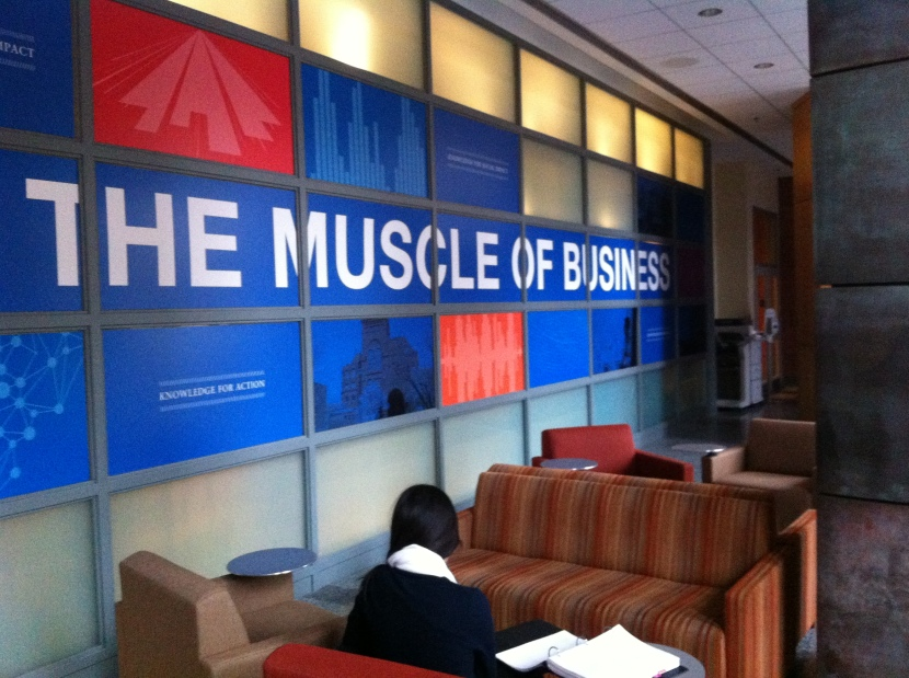 The MBA Cafe in Huntsman Hall on a Quiet Thursday afternoon