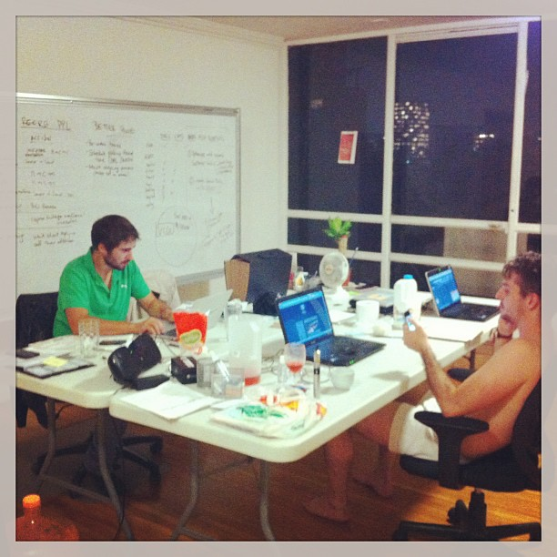 The team at Pesty working late into the night. Startup lifestyle baby! More on these guys on my post on the Mexico ecosystem.
