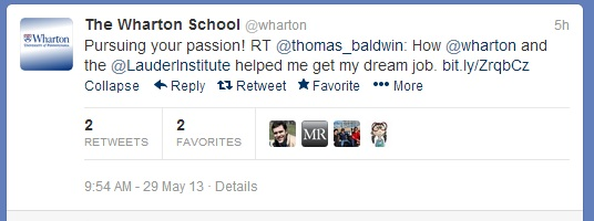 Click on the image to check out yesterday's post on my Wharton experience.